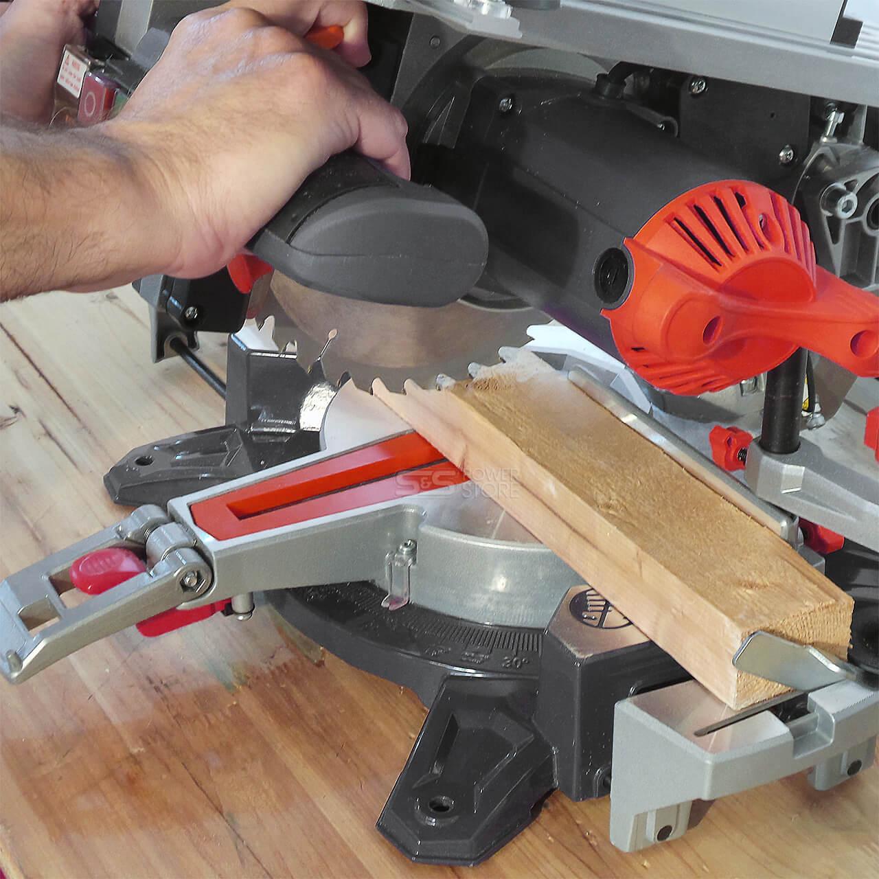 Details zu Kappsäge Gehrungssäge Tischkreissäge Matrix Kombi Säge MTS 2050 216 Laser Tisch