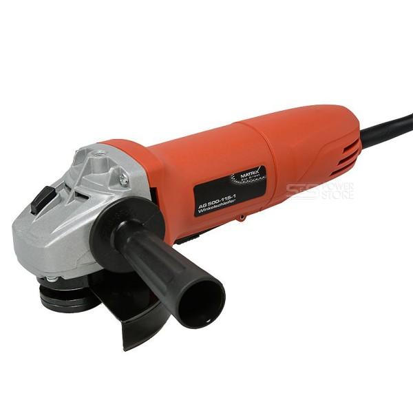 Matrix Winkelschleifer AG 500-115-1 Einhand Trennschleifer 500 Watt 115 mm Sicherheitschalter