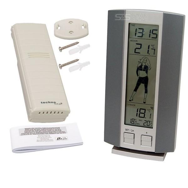 Technoline WS 9750 IT Funk Wetterstation Innen- und Außen Temperaturstation Wettergirl Uhr