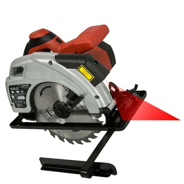 Matrix Handkreissäge CS 1200-185 Laser Kreissäge Schnitttiefe 65 mm
