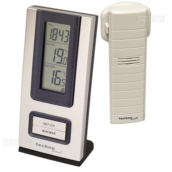 Technoline WS 9117 IT Funk Wetterstation Thermometer Uhr Innen Außen Temperatur