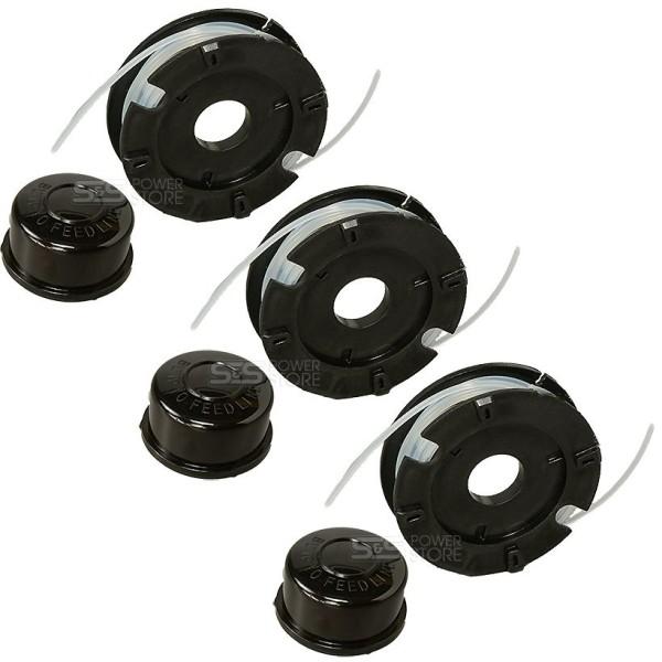 3 Stück Fadenspule Matrix PGT 4 in 1 Benzin-Kombigerät Rasentrimmer Ersatzspule