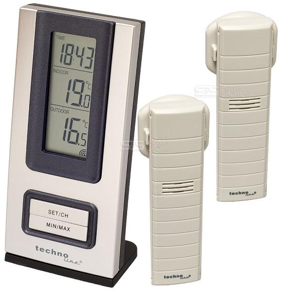 WS 9117-IT Technoline Set 2 Stück Außensender TX 29-IT